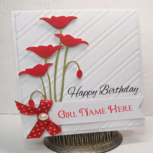write name on beautiful birthday cards for girls